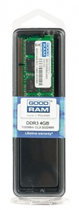 GOODRAM SODIMM 4GB/1333MHz PC3-10600 512×8 (GR1333S364L9S/4G)