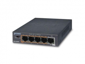 Switch niezarządzalny Planet FSD-504HP 4-Port PoE+ 100Mb/s + 1-Port 100Mb/s Desktop (FSD-504HP)