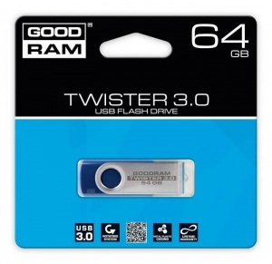 Pendrive GOODRAM Twister 64GB USB 3.0 (UTS3-0640R0R11)